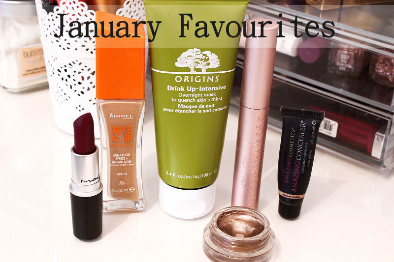 January Favourites Rimmel, Origins, MAC, Amazing Concealer, Too Faced, Maybelline