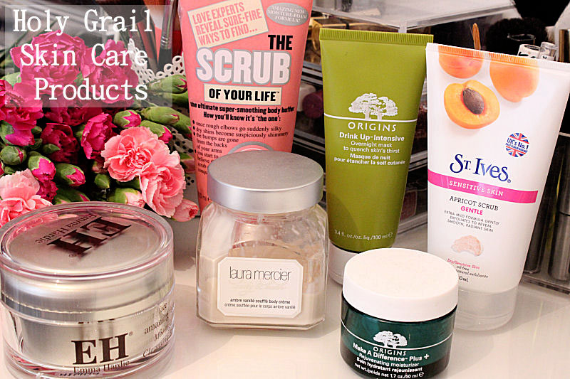 Holy Grail Skin Care Origins, Soap and Glory, St Ives, Laura Mercier, Emma Hardie