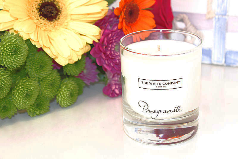 The White Company Pomegranate Candle