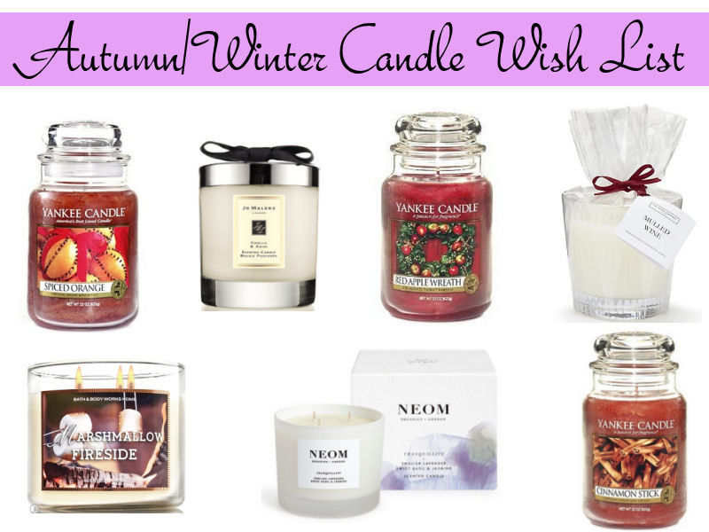 Autumn Winter Candle Wish List