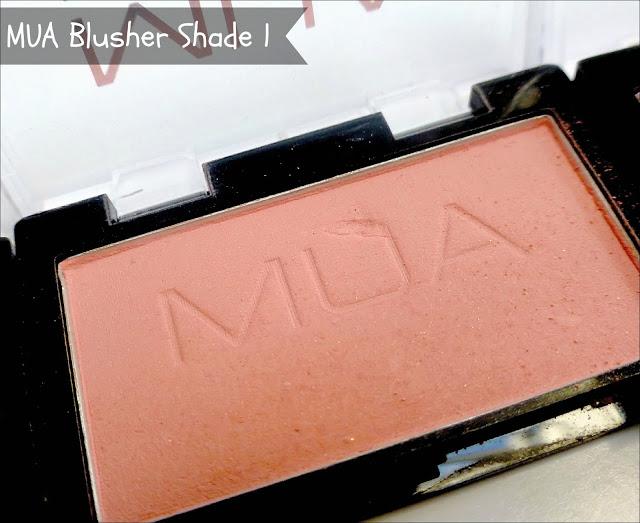 MUA shade 1 blusher