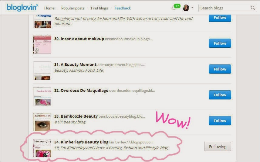 Blog Lovin Up and Coming List