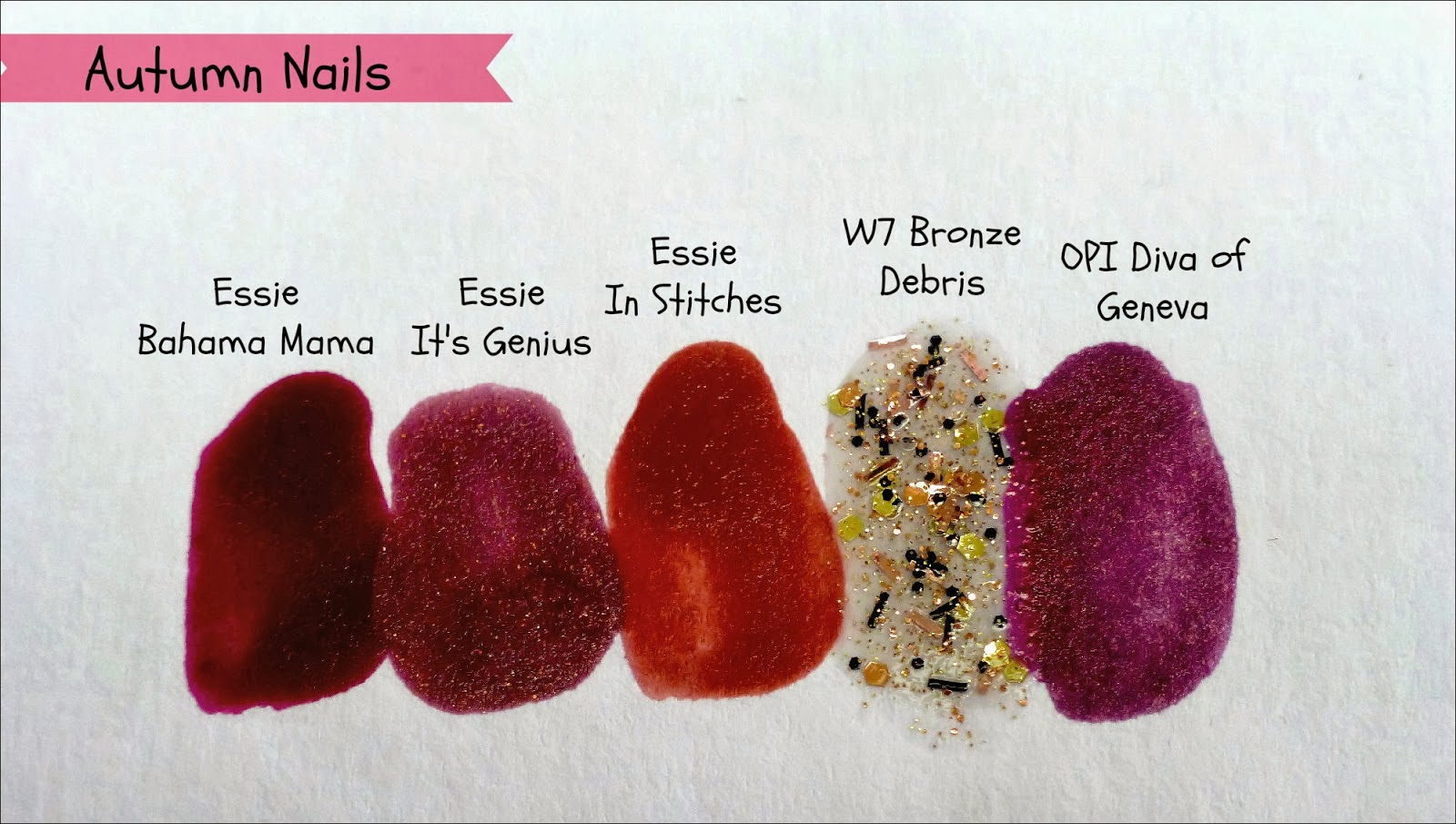 Autumn Nail Polishes swatches