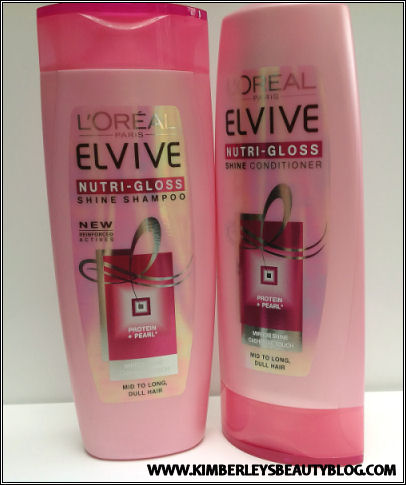 L'Oreal Elvive Nutri Gloss Shine Shampoo and Conditioner