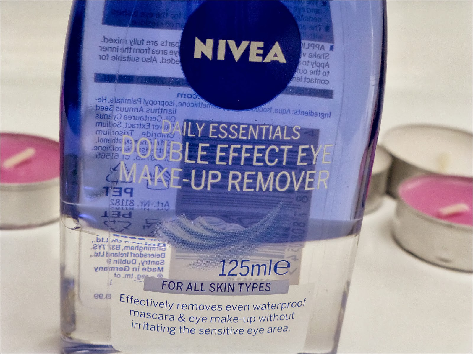 Nivea Double Eye Make Up Remover 125ml Daftar Harga Terlengkap Exclusive Lamica Nmde Fs Daily Essentials Effect
