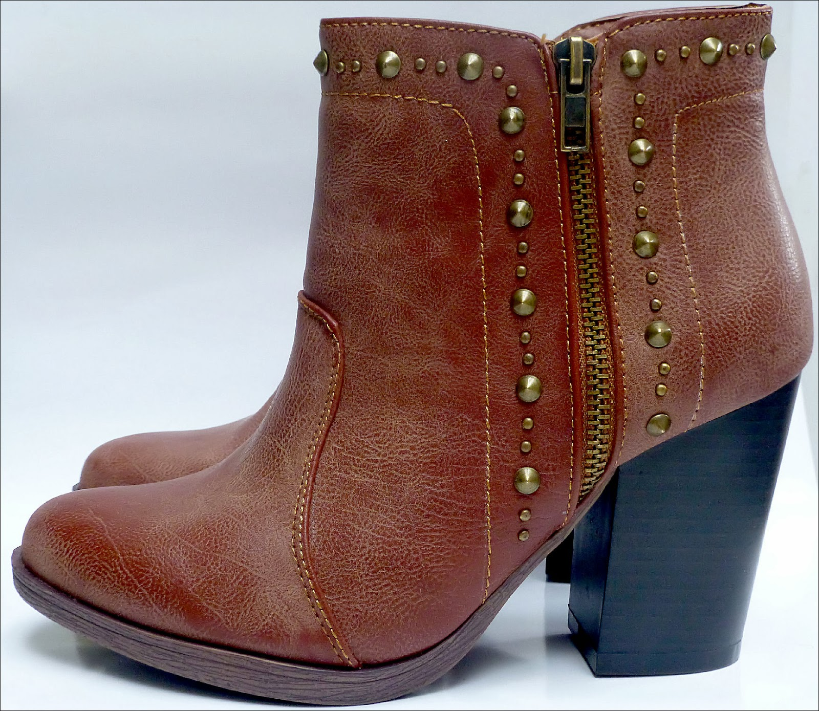 Brown Stud Autumn Winter Ankle Boots from New Look